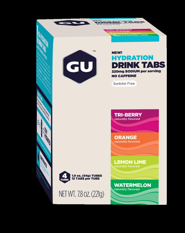 2015 GU Hydration Drink Tabs 4-Tubes Box